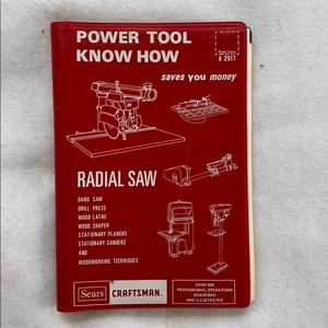 Sears Craftsman Book-Power Tool Know How-Vintage
